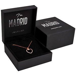 Madrid smykkeæske til vedhæng/ armbånd/ armring Sort soft-touch karton / Sort velourindsats 89 x 89 x 40