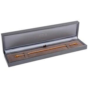 Oslo sieradendoosje voor armband Metallic grijs kunstleer/ Grijs velours interieur 219 x 55 x 23