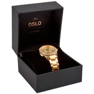 Oslo sieradendoosje voor horloge Zwart kunstleer/ Zwart velours interieur 100 x 100 x 75 93 x 87 x 34 mm