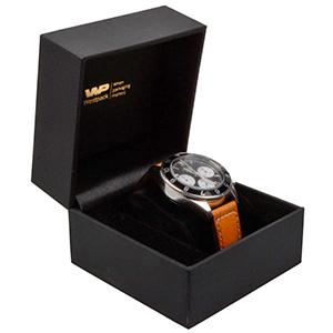 Oslo sieradendoosje voor horloge / armband Zwart kunstleer/ Zwart velours interieur 100 x 100 x 75 93 x 87 x 34 mm