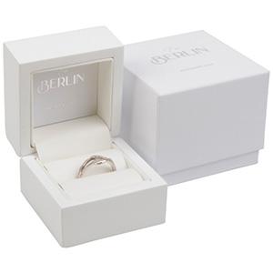 Berlin opakowania na pierścionki Białe błyszczące / biała wkładka  60 x 60 x 50