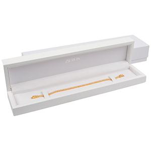 Berlin opakowania na bransoletki, zegarki Białe błyszczące / biała wkładka  250 x 57 x 32