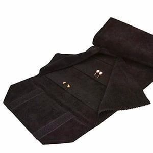Presentation Roll for 72 Earrings Black/Black 230 x 45