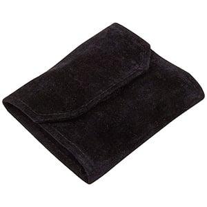 Jewellery purse, velour Black/Black 108 x 90