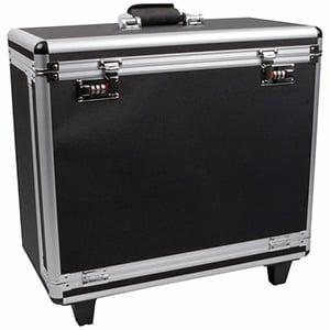 Koffer voor lichtgewicht tableaus, met wieltjes Zwart / Aluminium - Excl. tableaus 495 x 250 x 425