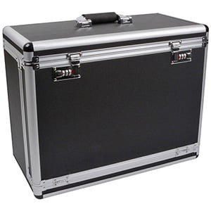 Koffer voor lichtgewicht ableaus, hoog Zwart / Aluminium - Excl. tableaus 505 x 250 x 430