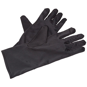 Cloth glove, for jewellers Dark grey, lady's size 260 x 93