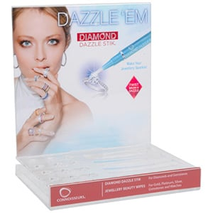 Connoisseurs Display Til 12 x Diamond Dazzle Stik + 3 Wipes