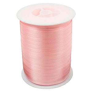 Plain ribbon, narrow Rose  5 mm x 500 m