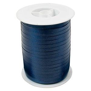 Bolduc ruban standard satiné, étroite Bleu foncé  5 mm x 500 m