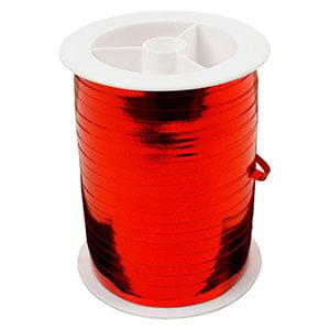Bolduc ruban starmétal brillant, étroite Rouge  5 mm x 250 m