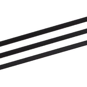 Glad satijnlint, extra smal Zwart  3 mm x 91,4 m