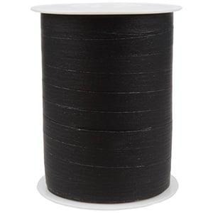 Bolduc ruban mat, avec texture Noir  10 mm x 250 m