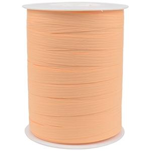 Bolduc ruban mat, avec texture Pêche clair  10 mm x 250 m
