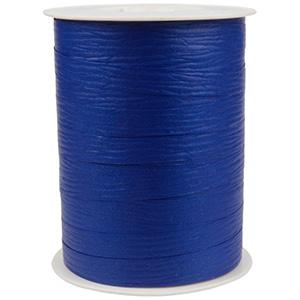 Bolduc ruban mat, avec texture Bleu royal  10 mm x 250 m