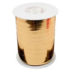 Shiny lint, breed Goud  10 mm x 250 m