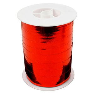 Bolduc ruban starmétal brillant, large Rouge  10 mm x 250 m