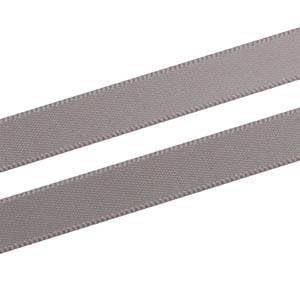 Glad satijnlint, smal Donker Grijs  9 mm x 91,4 m
