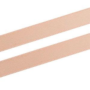 Glad satijnlint, smal Nude  9 mm x 91,4 m