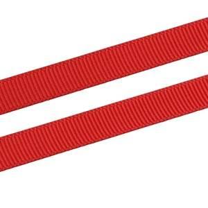 Geribbeld Satijnlint, smal Rood Grosgrain Lint  9 mm x 91,4 m