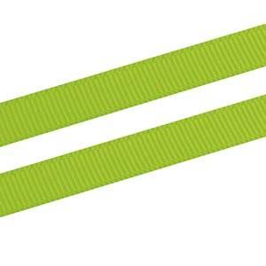 Ruban satin gros grain, étroit Vert lime  9 mm x 91,4 m