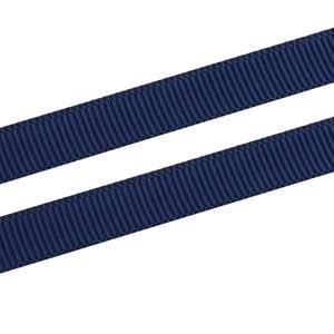 Geribbeld Satijnlint, smal Donkerblauw Grosgrain Lint  9 mm x 91,4 m