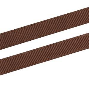 Grosgrain Satin ribbon, narrow Brown, Grosgrain  9 mm x 91,4 m