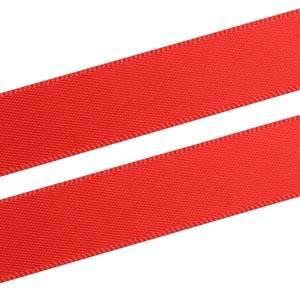 Glad Satijnlint, breed Rood  16 mm x 91,4 m