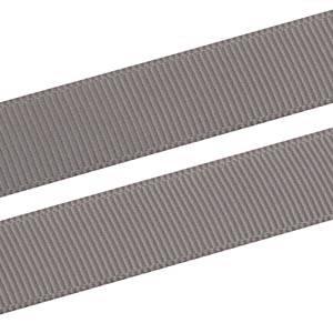 Geribbeld Satijnlint, breed Donker Grijs Grosgrain lint  16 mm x 91,4 m
