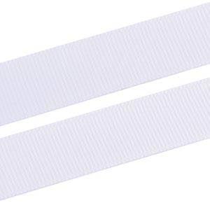 Geribbeld Satijnlint, breed Wit Grosgrain lint  16 mm x 91,4 m