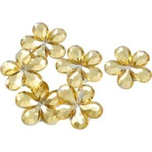 150 szt. kwiatków Kolor złoty  x 18