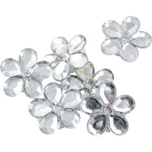 150 szt. kwiatków Kolor srebrny  x 18