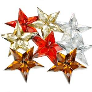 Glossy Stars, 150 pcs. Mixed colours  x 31