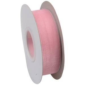 Organza ribbon Rose  25 mm x 45,7 m