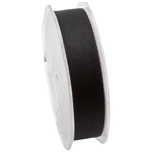 Twill Ribbon, wide Black  25 mm x 15 m