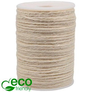 ECO Jute Twine Cream Coloured  2 mm x 100 m