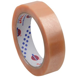 25mm zelfklevende tape, voor tapepistool Transparante tape  25 mm x 66 m