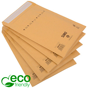 Eco-friendly Mailers, Medium Brown - padded envelope, 100% recycled paper 195 x 265