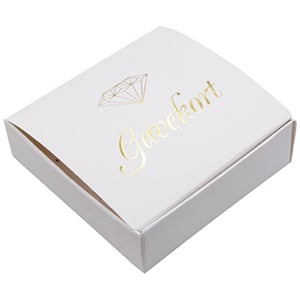 50 pcs Gift-certificate Folding box, with diamond DK Text 100 x 100 x 30 mm DK