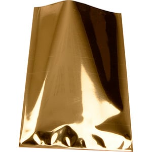 Small Foil Bag for Jewellery, 500 pcs Glossy Gold 80 x 125