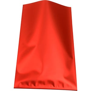 Small Foil Bag for Jewellery, 500 pcs Matt Red 80 x 125