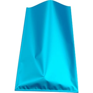 Small Foil Bag for Jewellery, 500 pcs Matt Bright Blue 80 x 125
