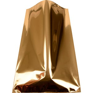 Large Foil Bag for Jewellery, 250 pcs Glossy Gold 150 x 245