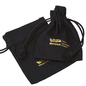 Pochette à bijoux, Mélange de Lin et Coton, Small Lin noir 90 x 120