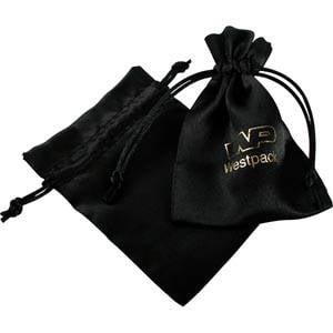 Bourse en satin, taille S Satin noir 90 x 120