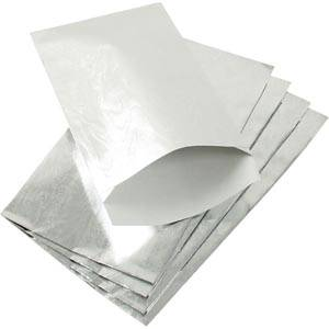 Small Paper Jewellery Bag, 500 pcs Glossy Silver 90 x 150 76 gsm