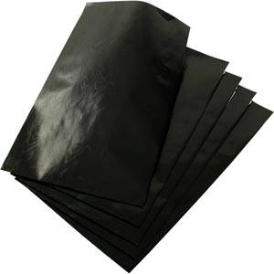 Medium Paper Jewellery Bag, 500 pcs Glossy Black 120 x 180