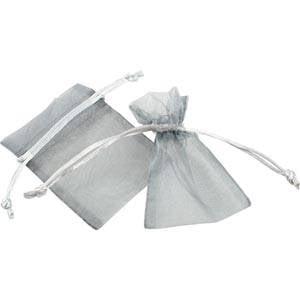 Sakiewka z organdyny, mini Kolor srebrny 70 x 90