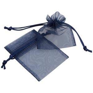 Organza pouch, mini Dark blue 70 x 90