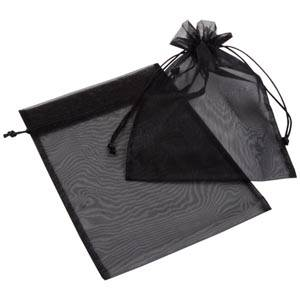 Organza zakje, groot Zwart 180 x 240